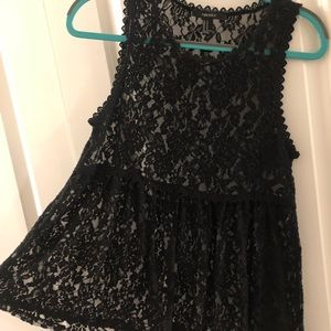 Forever 21 Black Lace Tank Top